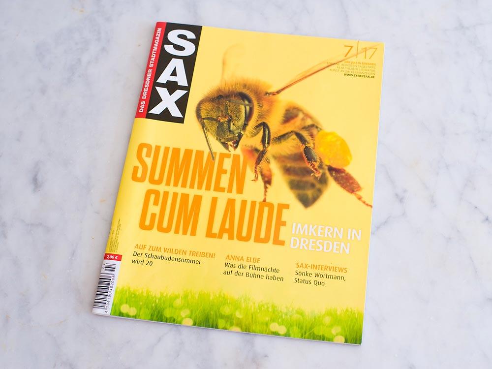Interview im Stadtmagazin Sax Juli 2017